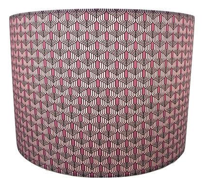 Purple Art Deco fabric Handmade Lampshade