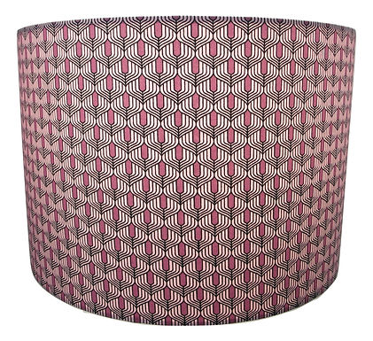 Purple Art Deco fabric Handmade Lampshade