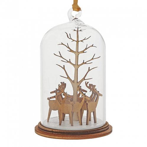 Santa's Reindeer, Kloche Hanging Ornament