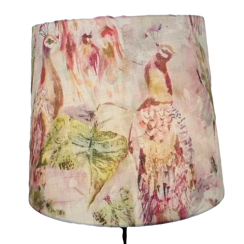 Voyage Maison 'Ebba Sunset' Peacocks Handmade Shade, Drum or Empire Shapes
