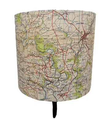 Handmade Tavistock Area 1941 Ordinance Survey Map Lampshade, 20cm's