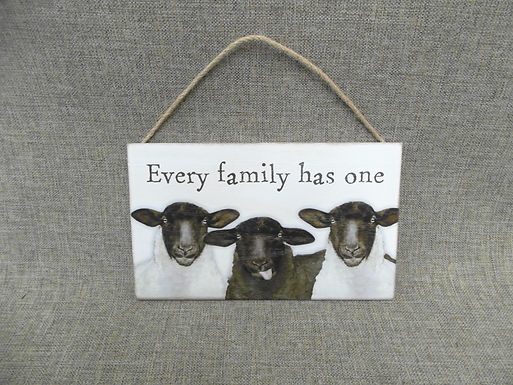 Funny Sheep 'Every Family Has One' Hanging Sign