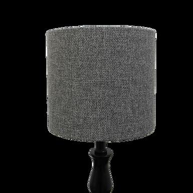 Classic Grey Tweed Design Handmade Lampshade, Drum or Empire Shapes