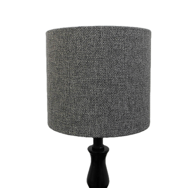 Classic Grey Tweed Design Handmade Lampshade, Drum or Empire Shapes