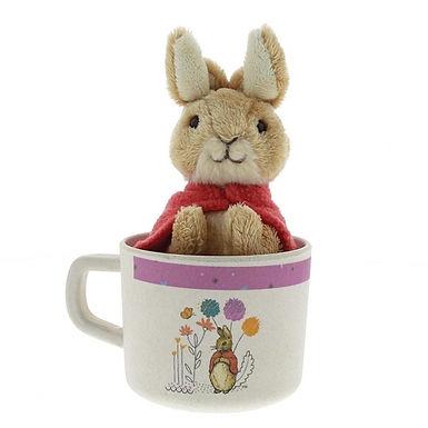 Flopsy Bunny Organic Bamboo Childrens Mug and Soft Toy Gift Set