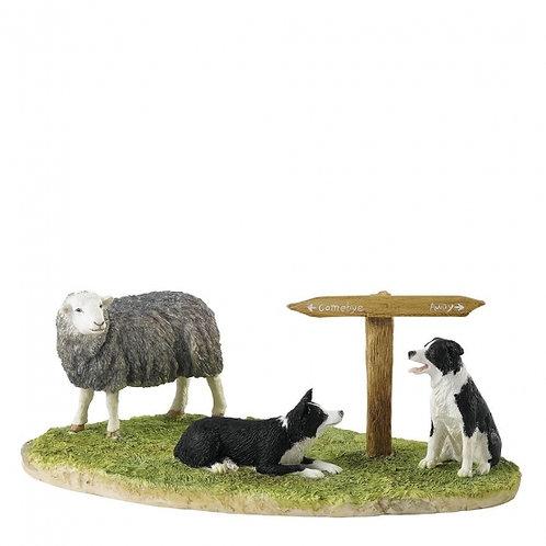 Ewe Take the Left Figurine (Herdwick)