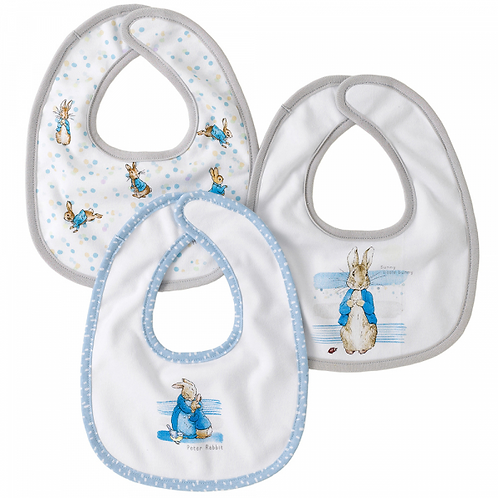 Peter Rabbit Baby Collection Bibs (set of three)