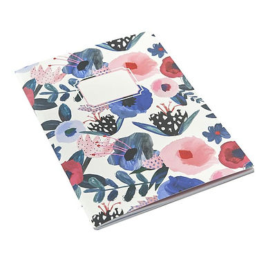 Painterly Floral A5 Exercise Book