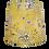 Thumbnail: Clearance Mustard Bird + Flowers Fabric Handmade 40cm Empire Lampshade