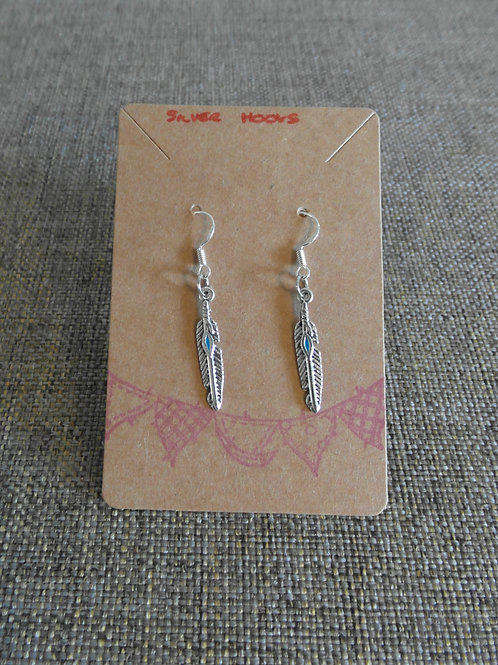 Feather Earrings With Hooks