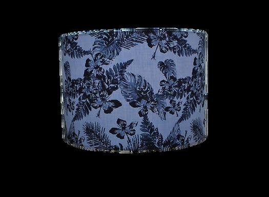 Clearance Denim Leaves Tropical Flowers, Handmade Lampshade