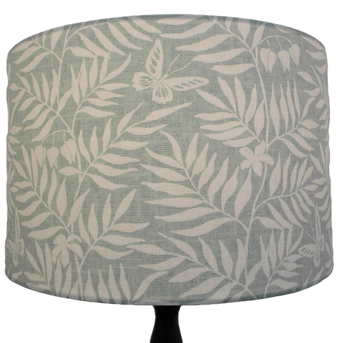 Duck Egg Blue Butterflies and Ferns lampshade, Two sizes available