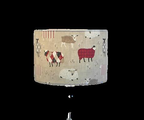 Baa Baa, Sheep Design Handmade Lampshade, Drum or Empire Shap