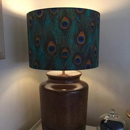 Peacock 30cm Drum Lampshade
