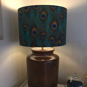 Peacock 30cm Drum Lampshade