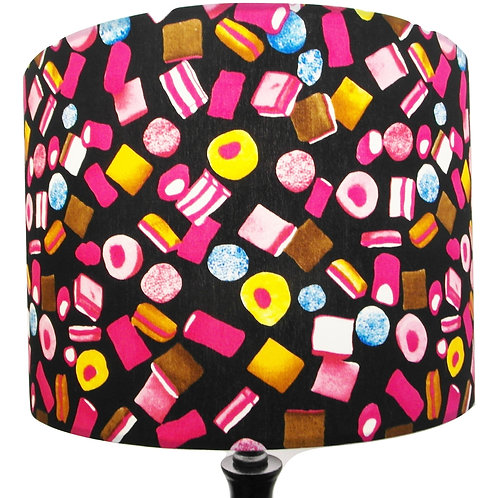 Retro Liquorice Allsorts Shade, Drum or Empire Shapes