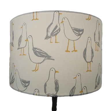 Seagull Design Handmade Lampshade, Drum, Empire or Hexagon Shapes