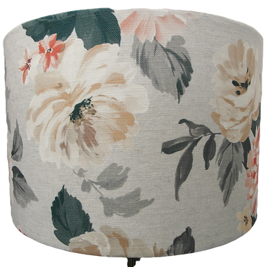 Traditional flower design shade, Drum or Empire Shapes