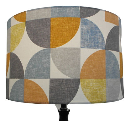 Clearance 40cm Drum Modern Geometric Abstract Pattern