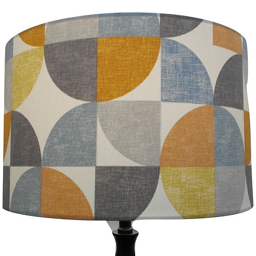 Modern Geometric Abstract Pattern Drum Lampshade, Available in two sizes