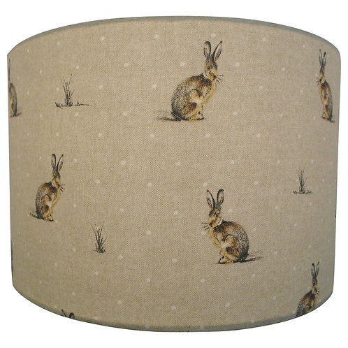Hartley Hare fabric Handmade Lampshade, Drum or Empire hapes
