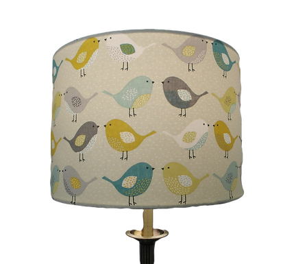 Scandi Birds fabric Handmade Lampshade