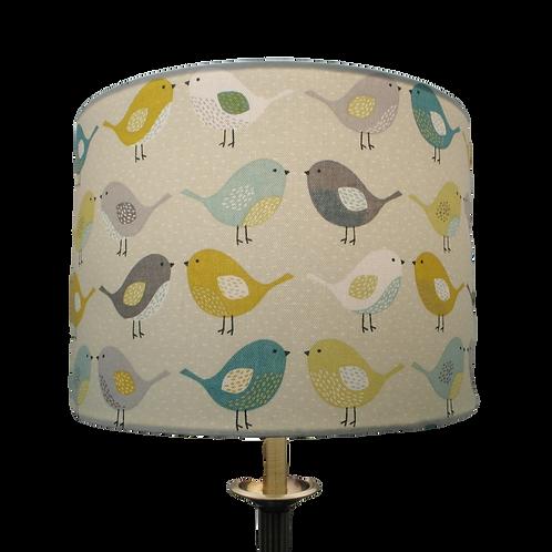 Scandi Birds fabric Handmade Lampshade