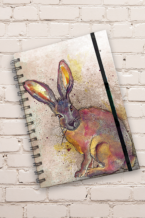 Dollyhotdogs Hare Hard back Notebook