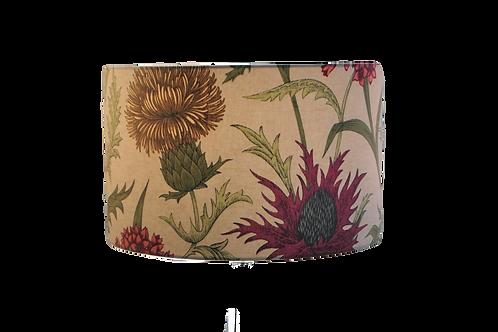 Acanthium thistle Floral Design Handmade Lampshade, Drum or Empir