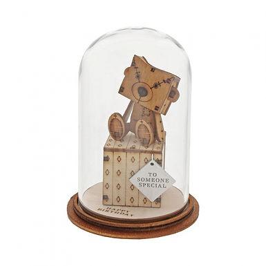 Happy Birthday Figurine, Kloche Little Wooden Bear