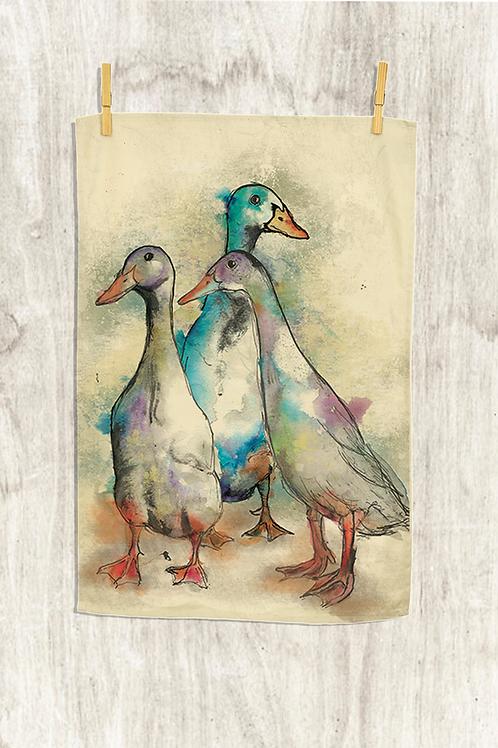 Runner Ducks Tea Towel