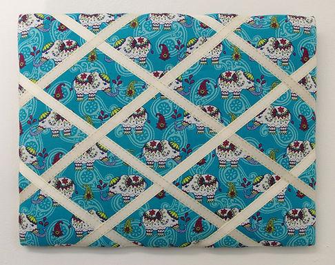 Elephant Fabric Handmade Memo Board