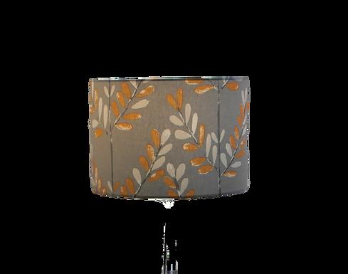 Scandi Sprig Tangerine Handmade Lampshade