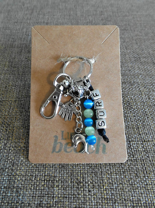 Surf Beach Themed Keychain