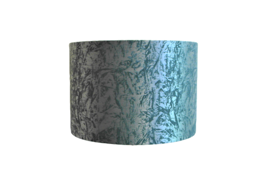 Duck Egg and Silver Velvet Handmade Lampshade, Drum or Empire Shapes