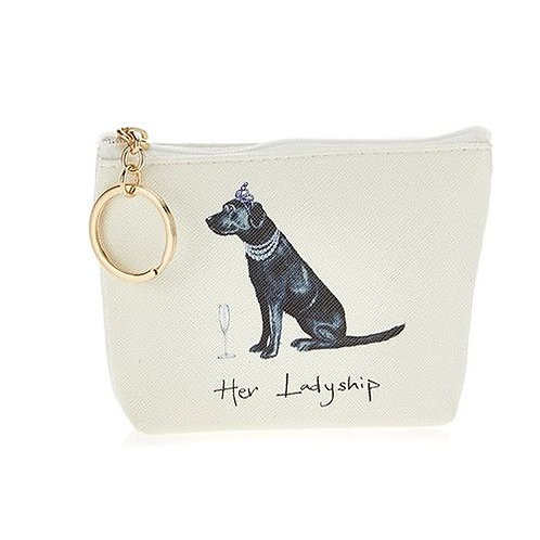 Her Ladyship, Black Labrador Coin Purse