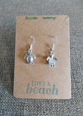 Turtle Earrings With Hooks