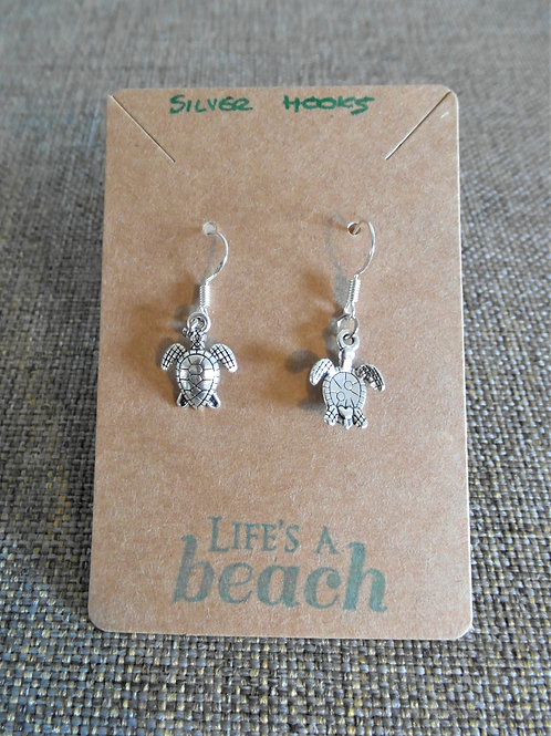 Turtle Earrings With Hooks