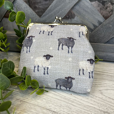 Sheep Clip Top Coin Purse