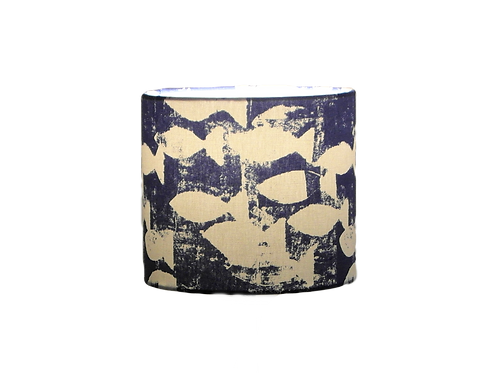 Indigo Shoal, Fish Seaside Handmade Lampshade, Drum or Empire Shapes