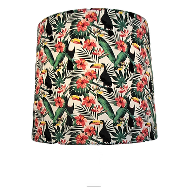 Tropical Toucan Fabric Drum or Empire Lampshade