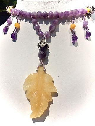 amethyst necklace, aragonite neckalce.JPG
