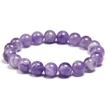 Natural Amethyst Gem Stone Bracelet/Spiritual Protection Balance Meditation