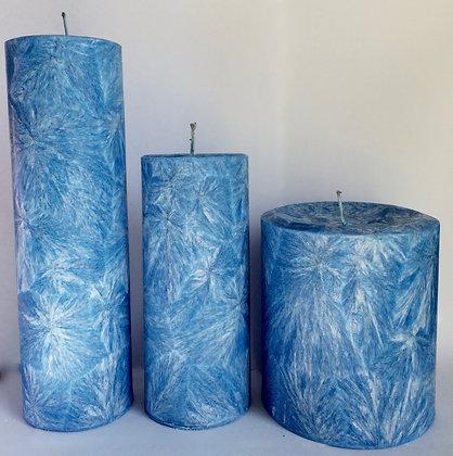3x Royal Blue ECO Candles