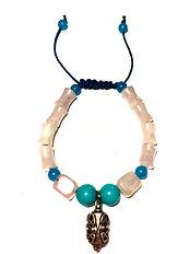 turquoise, jade, rose quartz, intention, healing, chackra, manifestation bracelet.JPG