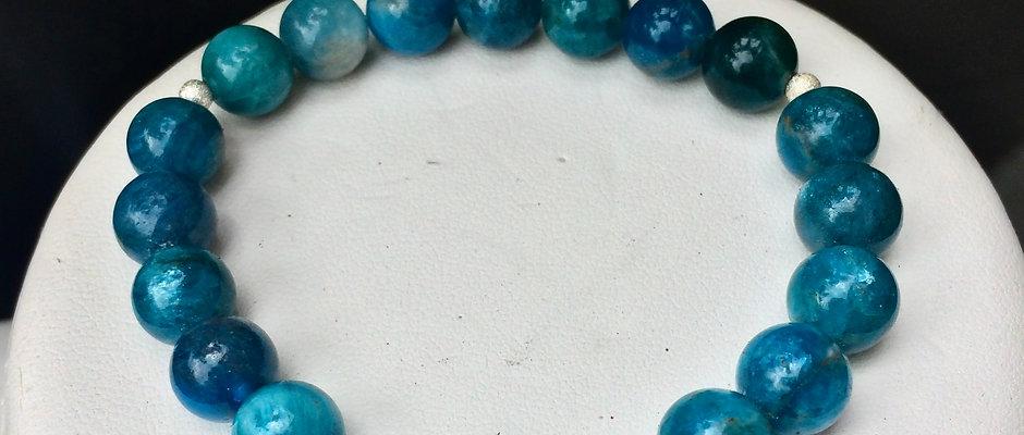 Natural Apatite   Stone of Manifestation, Intention Bracelet/Calm