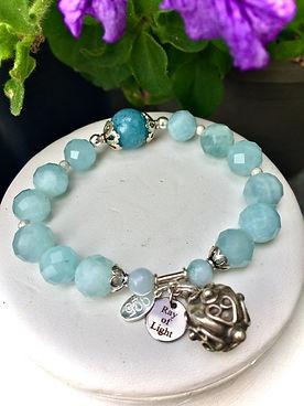 crystal aquamarine healing bracelet, ray of light jewels,.JPG
