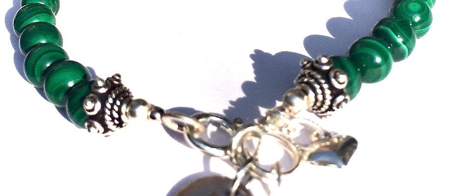 Natural Malachite | Genuine Malachite Stone of Manifestation 6mm Bracelet