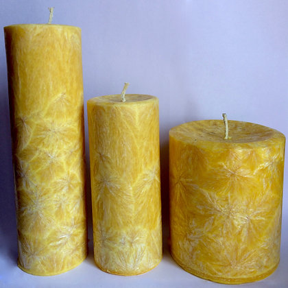 3x Yellow ECO Candles