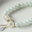 Thumbnail: Natural Jade & Emerald Agate Beads Bracelet Adjustable   Water Drop Shell Flower